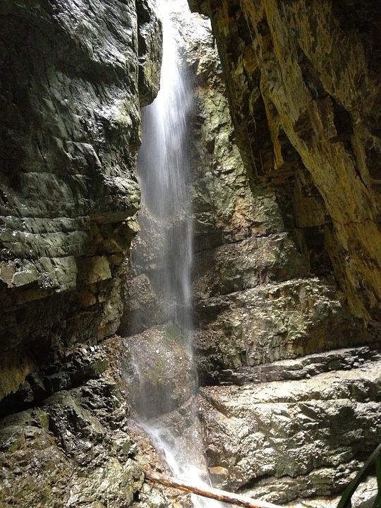 Waterfall, Gorge, Water, Fall, Clammy, Allgaeeu, Hiking
