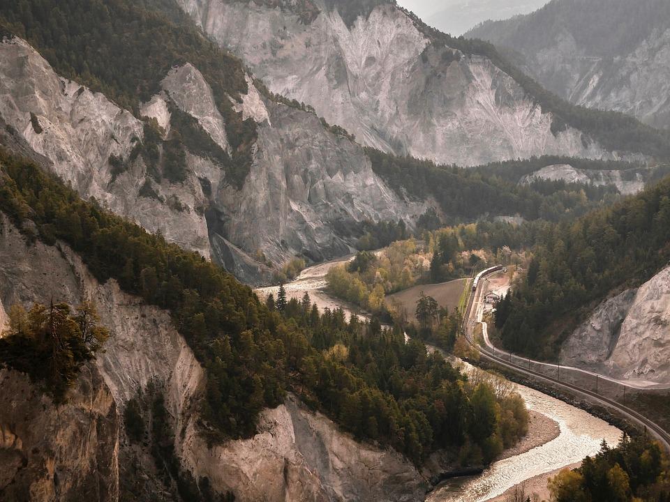 Ruinaulta, Rhine Gorge, Rock, Graubünden, Gorge