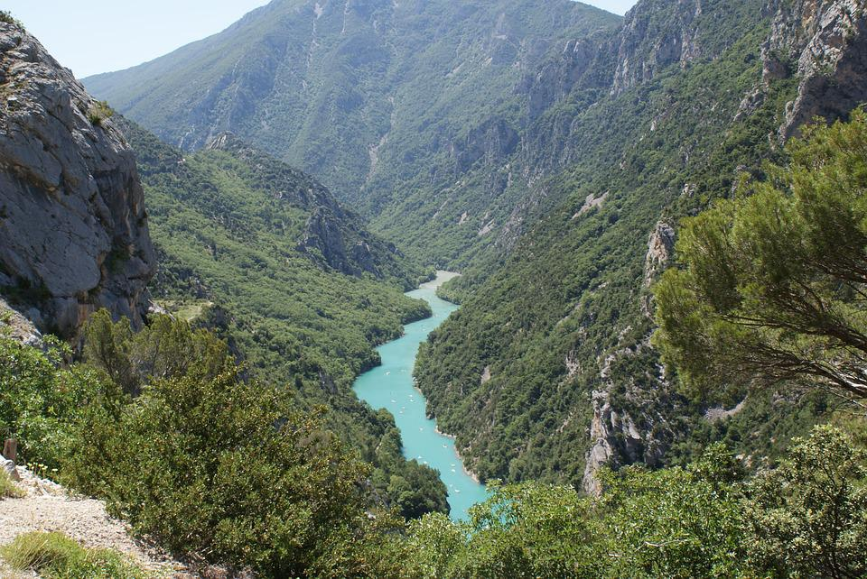 Gorges, Verdon, South, Green, Summer, Water, Provence