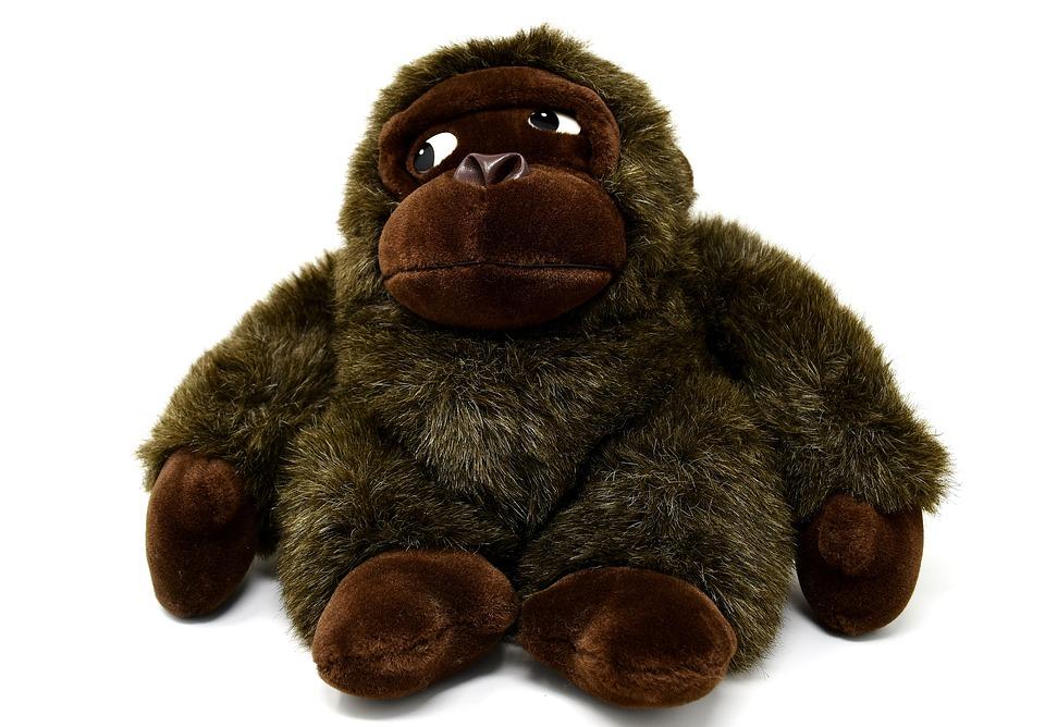 Monkey, Gorilla, Toys, Stuffed Animal, Soft Toy, Cute