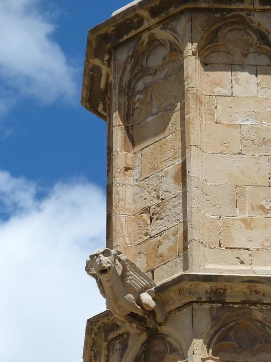 Gargoyle, Tower, Gothic, Carved Stone, Tortosa