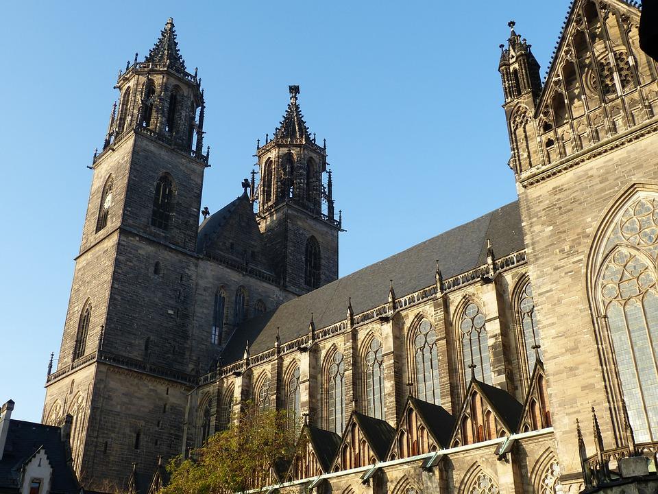 Church, Dom, Gothic, Historically, Magdeburg
