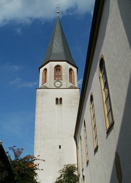 Gothic, Church, Tower, St, Juliana, Malsch