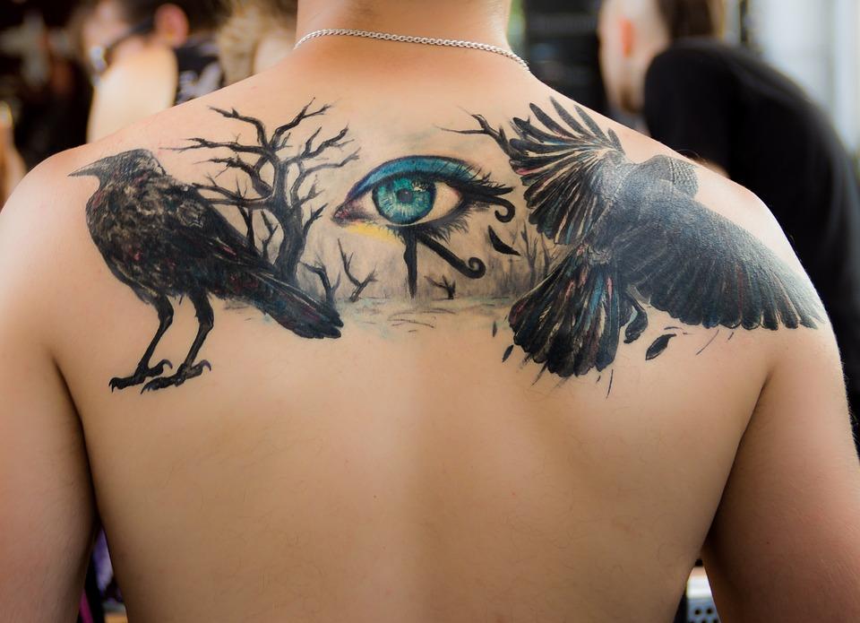 Tattoo, Dig, Eye, Black, Color, Gothic