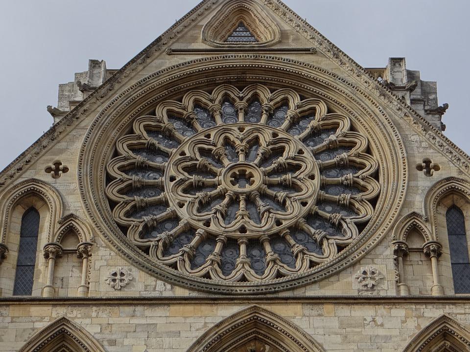 Rosette, Church, Gothic, York, Minster, Historically