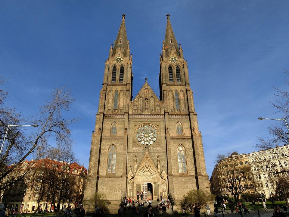 Church, Prague, Building, Historically, Autumn, Gothic