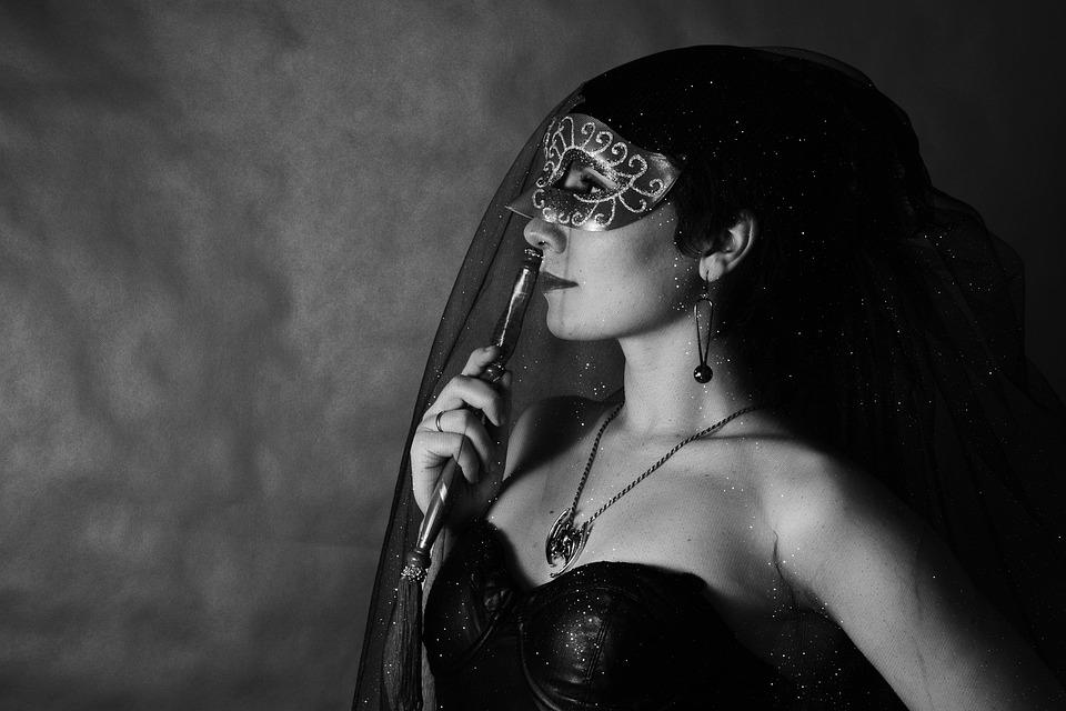 Carnival, Mask, Portrait, Girl, Gothic, Mystic, Person