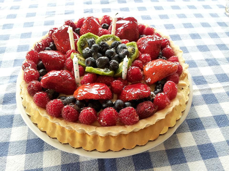 Cake, Birthday, Tart, Dessert, Pastry, Fruit, Gourmet