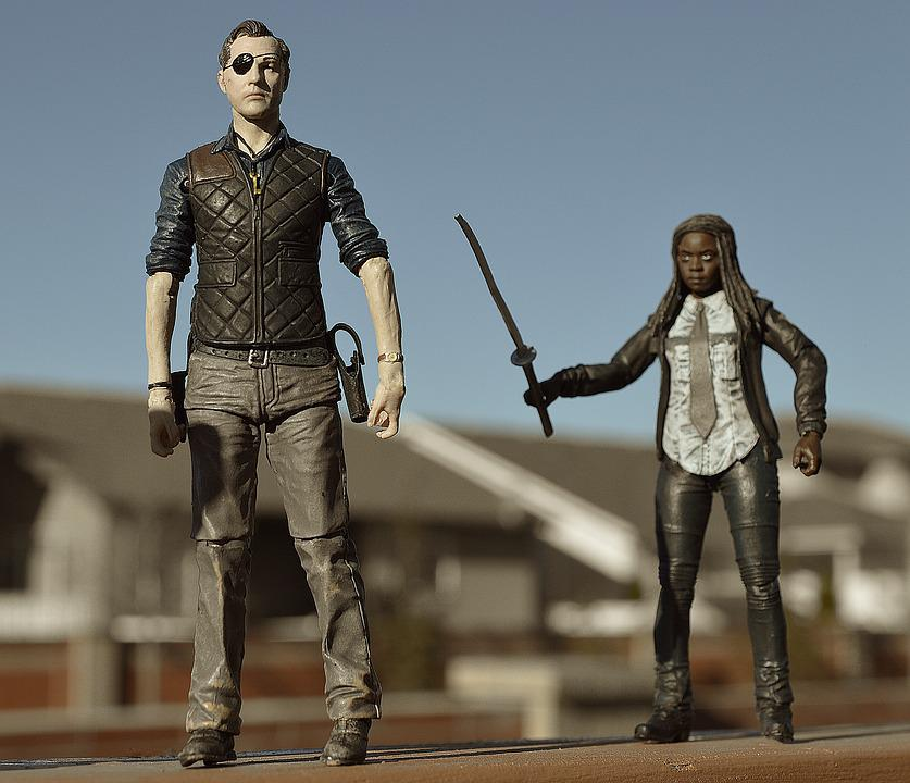 Walking Dead, Michonne, Governor, Action Figure, Doll