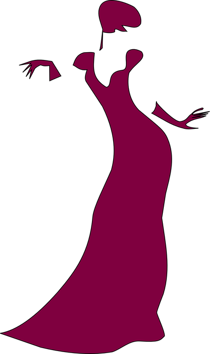 Lady, Gown, Purple, Elegance, Celebration, Glamour