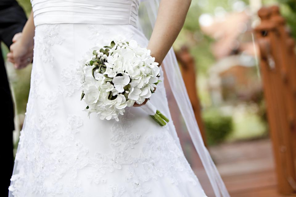 Bride, Wedding, Bouquet, Bridal, Gown, Wife, Event