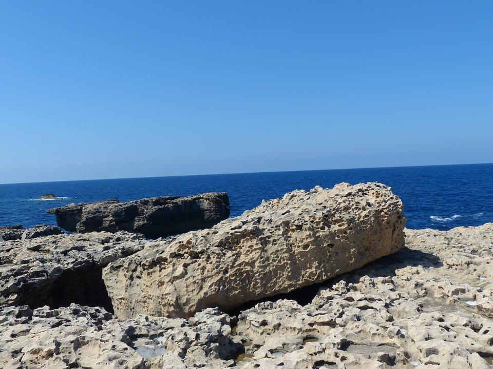 Gozo, Malta, Sea, Rock, Coast