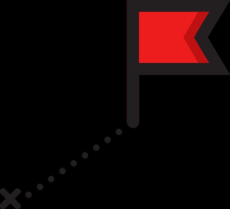 Destination, Route, Flag, Map, Gps