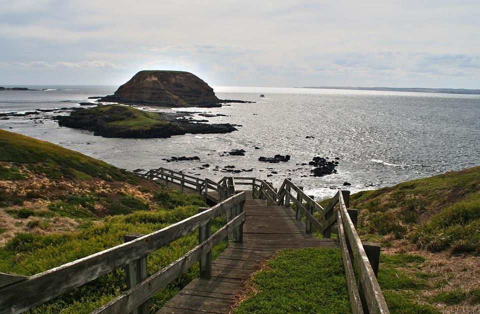 Great Ocean Road, Web, Ocean, Gradually, Sea, Coast