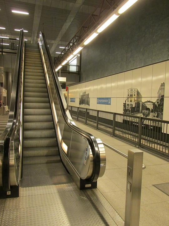 Escalator, Stairs, Gradually, Means Of Rail Transport