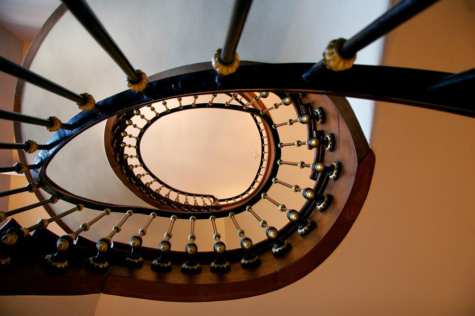 Stairs, Gradually, Railing, Spiral Staircase, Staircase