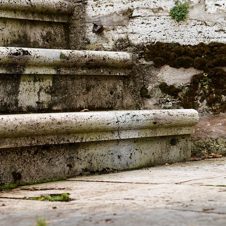 Stairs, Gradually, Stone Stairway