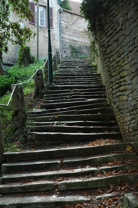 Stairs, Steep, Gradually, Rise, Village, Stair Step