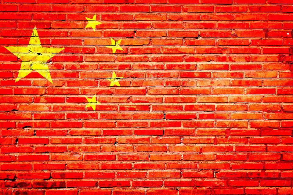 China, Graffiti, Nation, Flag, Backdrop