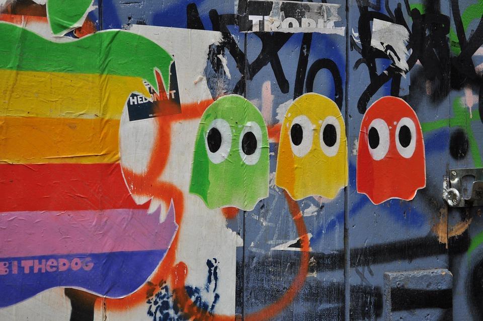 Street Art, Berlin, Hauswand, Facade, Graffiti, Mural