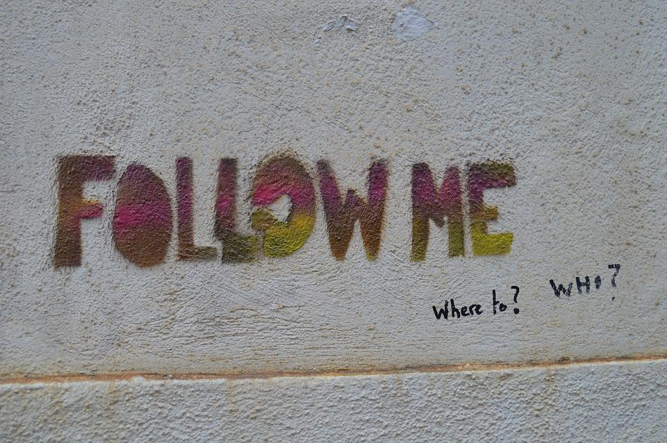 Graffiti, Follow, Follow Me, Mural