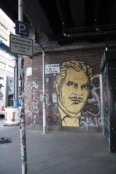 Graffiti, Berlin, Portrait, City