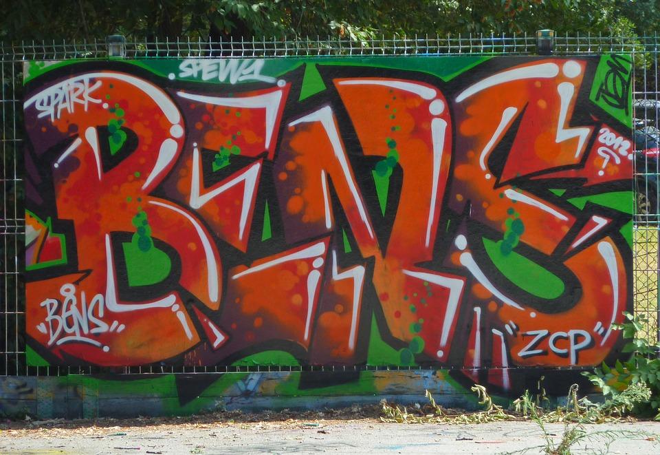 Graffiti, Mural, Vandal, Vandalism, Art, Colorful, Boy