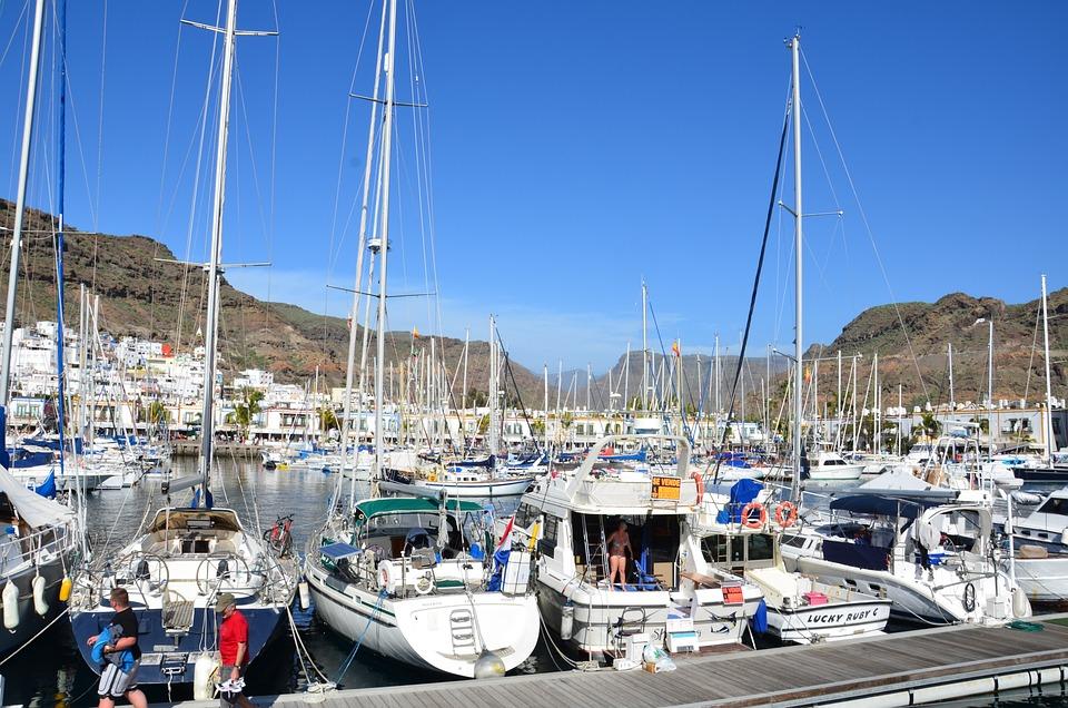 Mogan, Harbor, Gran Canaria, Spain, Boats