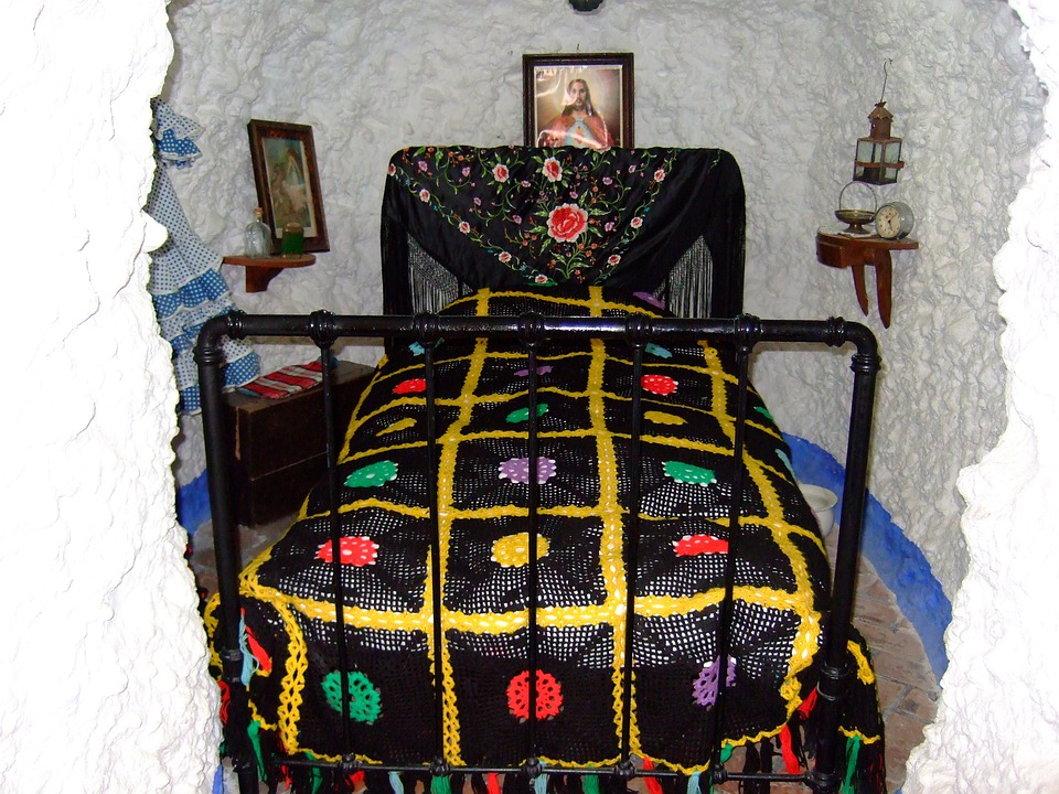 Granada, Andalusia, Spain, Cave, Bedroom, Sacromonte