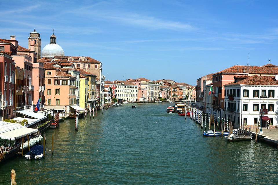 Grand Canal, City, Venice, Italy, Buildings, Boats