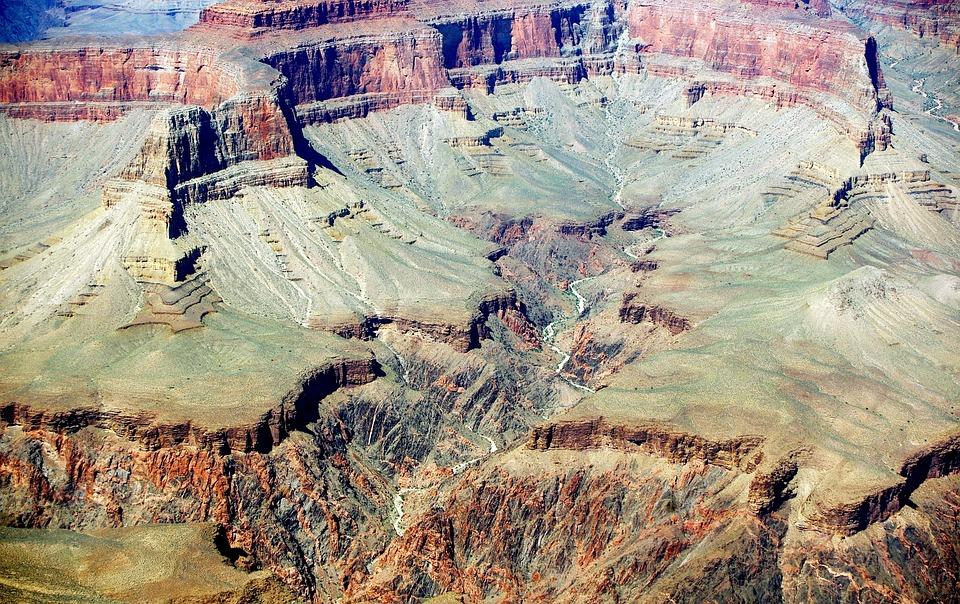 Usa, Grand Canyon, Colorado, Panorama, Immensity, River