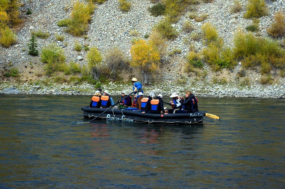 Floating The Snake River, Raft, Snake, River, Grand