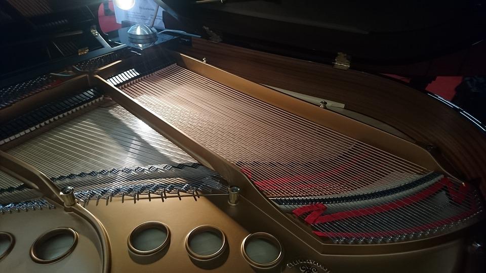 Piano, Grand Piano, Wing, Music