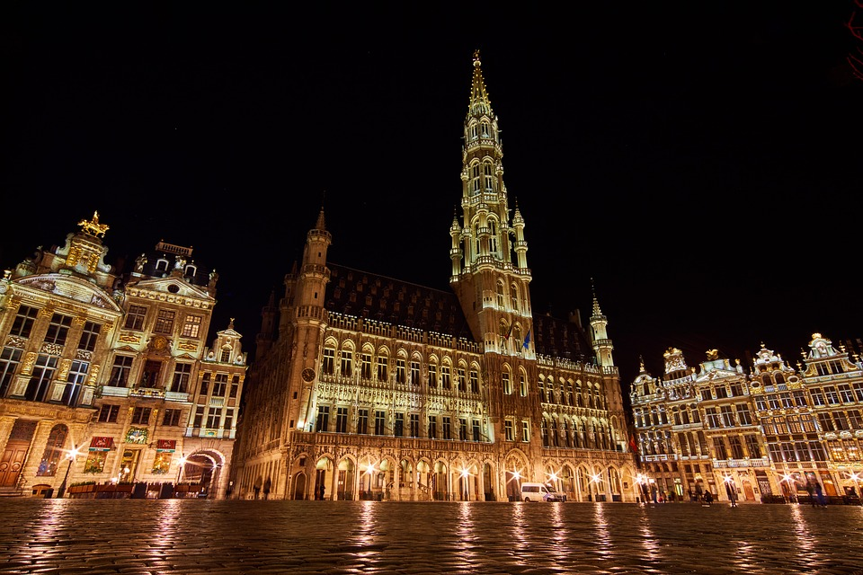 Belgium, Brussels, Grand Place, Town Hall, Architecture