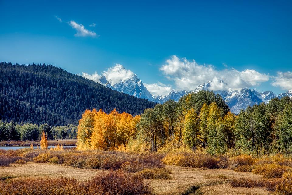 Grand Teton National Park, Wyoming, America, Hdr