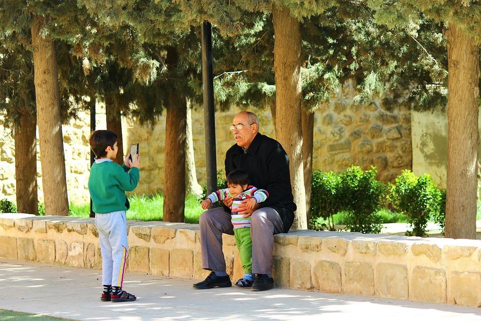 Grandchildren, Grandfather, Child
