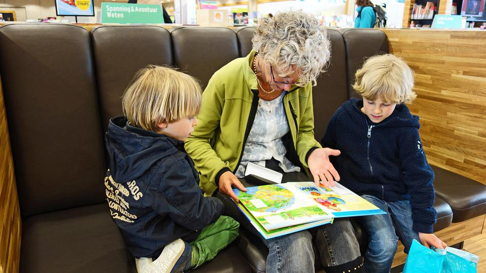 For Reading, Read, Book, Granny, Grandmother, Library