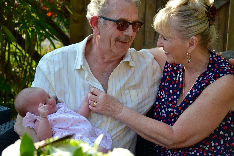 Grandparents, Baby With Grandparents, Generation