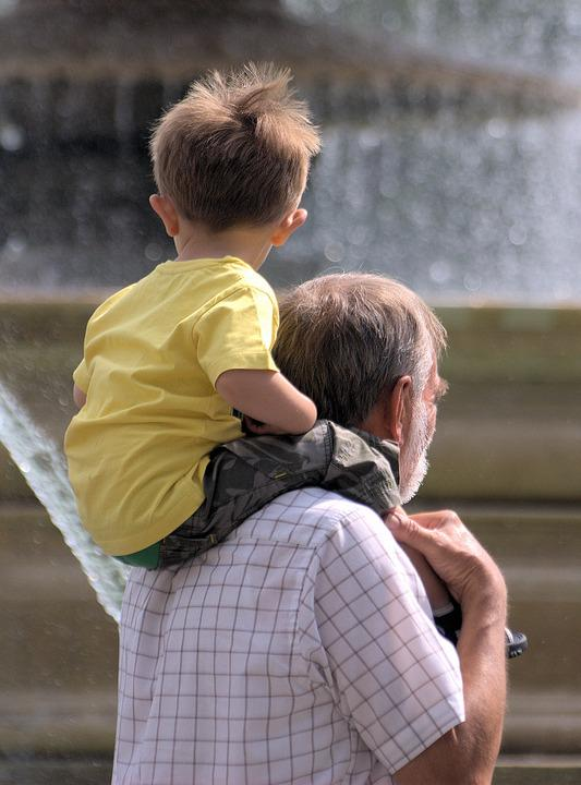 Boy, Father, Person, Man, Child, Grandson, Grandfather