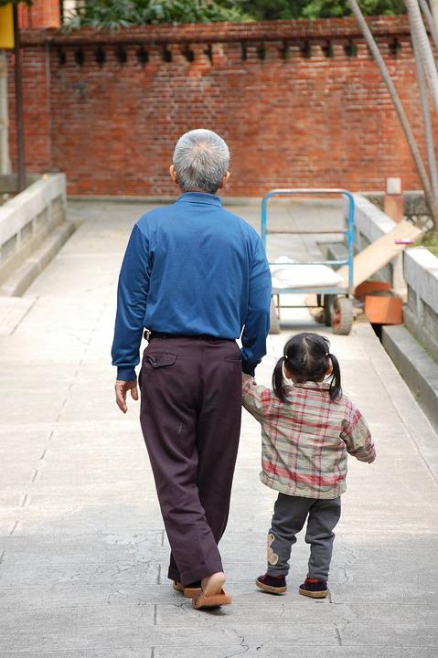 People, Men, Child, Family, Grandpa, Grandson