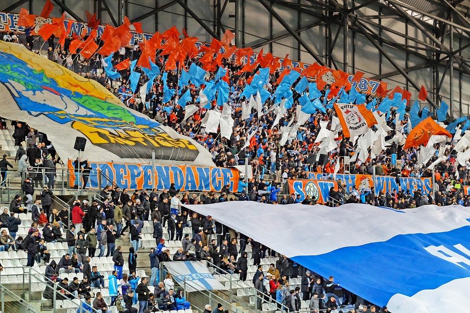 Football, Fans, Crowd, Stands, Stadium, Grandstand