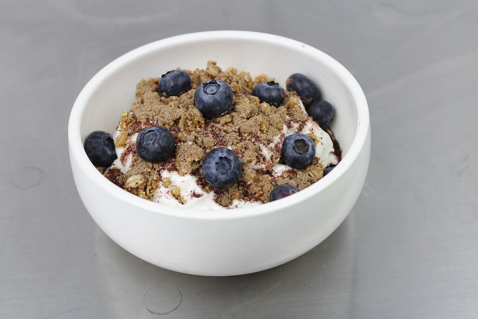 Granola, Breakfast, Blueberry