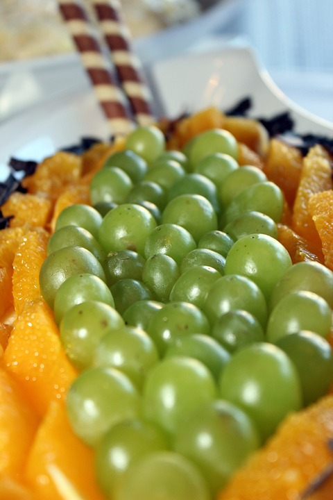 Grapes, Oranges, Chocolate, Dessert