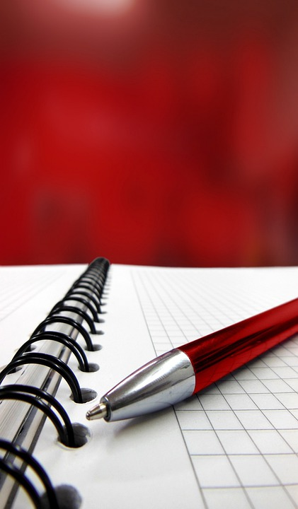 Pen, Notebook, Writing, Graph Paper, Red, Graph, Paper