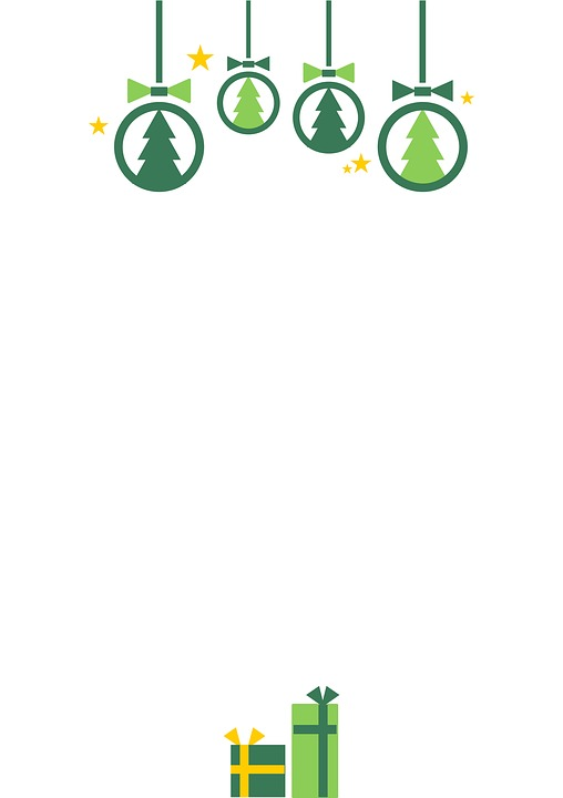 Christmas, Background, Design, Green, Graphic, Clip Art