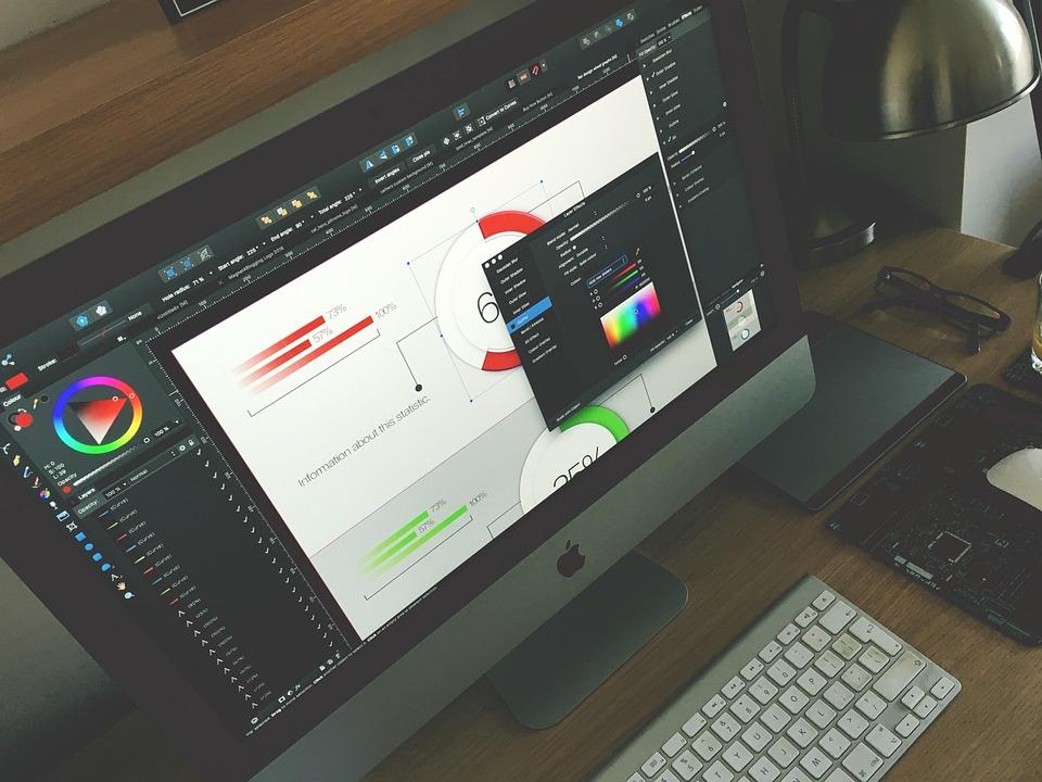 Graphic Designer, Mac Computer, Office, Business