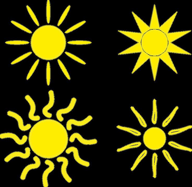 Sun, Sunshine, Summer, Mood, Nature, Graphic, Hell