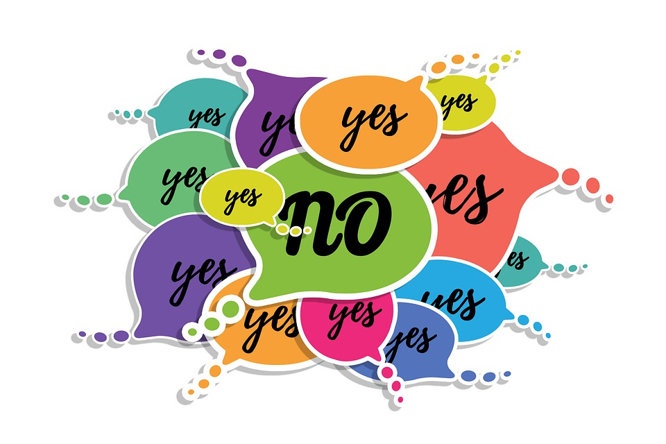Yes, No, Feedback, Balloons, Graphic, Consent