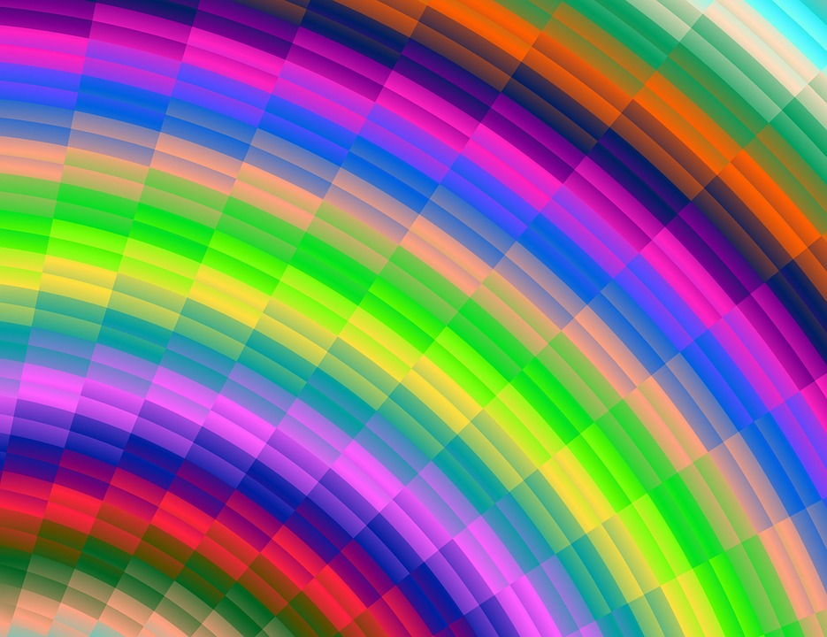 Graphic Rainbow, Colorful, Art Design, Background