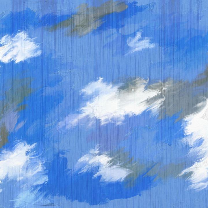 Clouds, Paint, Painted, Digital, Graphic, Texture, Blue